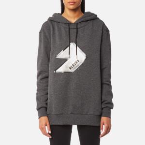 Versus Versace Women's Versus Logo Hooded Sweatshirt - Grey
