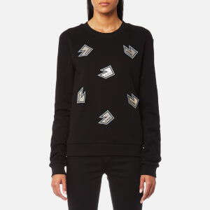 Versus Versace Women's Allover Logo Sweatshirt - Black