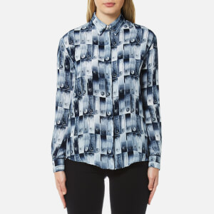 Versus Versace Women's Safety Pin Print Shirt - Multi