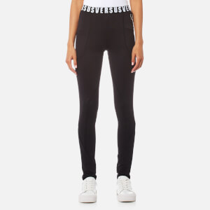 Versus Versace Women's Logo Waistband Leggings - Black