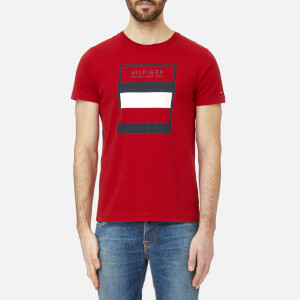 Tommy Hilfiger Men's Large Logo T-Shirt - Haute Red