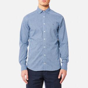 Tommy Hilfiger Men's Felga Heather Gingham Long Sleeve Shirt - Light Shirt Blue/Sky Captain