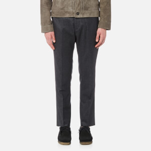 Officine Générale Men's Jacques Piping Flannel Trousers - Grey