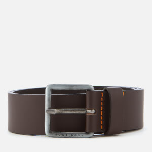 BOSS Orange Men's Jeeko Leather Belt - Dark Brown