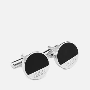 HUGO Men's E Spot Cufflinks - Black