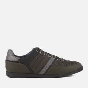BOSS Green Men's Maze Low Profile Trainers - Dark Green