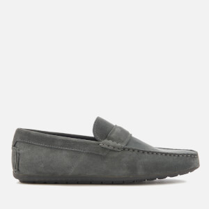 HUGO Men's Travelling Dandy Suede Moccasin Shoes - Dark Grey