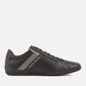 BOSS Green Men's Space Leather Low Profile Trainers - Black
