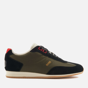 BOSS Orange Men's Orland Low Profile Trainers - Open Green