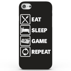Coque iPhone & Android Eat Sleep Game Repeat - 4 Couleurs