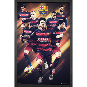 Barcelona Players 15/16 - 61 x 91.5cm Framed Maxi Poster