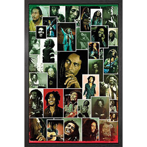 Bob Marley Photo Collage - 61 x 91.5cm Framed Maxi Poster