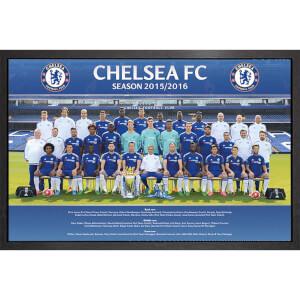 Chelsea Team Photo 15/16 - 61 x 91.5cm Framed Maxi Poster
