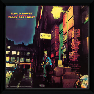 David Bowie Ziggy Stardust - 12 x 12 Inches Framed Album Print