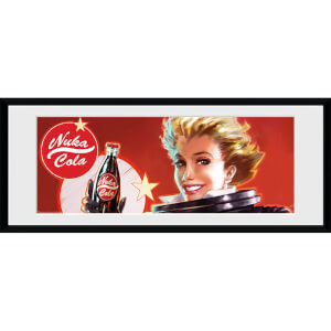 Fallout Nuka Cola - 30 x 12 Inches Framed Photograph