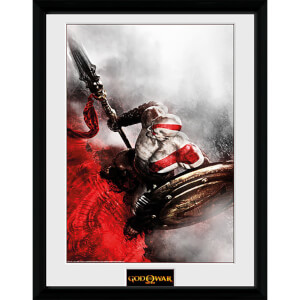 God of War Kratos Sparta Wing - 16 x 12 Inches Framed Photograph