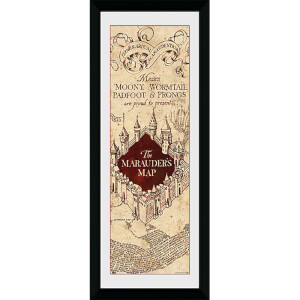 Harry Potter Marauders Map - 30 x 12 Inches Framed Photograph
