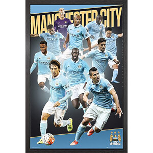 Manchester City Players 15/16 - 61 x 91.5cm Framed Maxi Poster