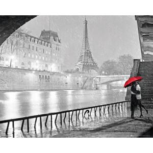 Paris Eiffel Tower Kiss - 40 x 50cm Mini Poster