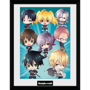 Seraph of the End Chibi - 16 x 12 Inches Framed Photograph