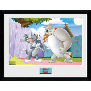 Tom and Jerry Fight - 16 x 12 Inches Framed Photograph