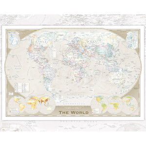 World Map Tripel - 40 x 50cm Mini Poster