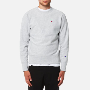 Champion Men's Small Chest Logo Sweatshirt - Grey Marl