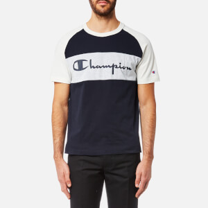 Champion Men's Colour Block T-Shirt - Navy/Grey Marl