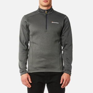 Montane Men's Forza Pull On Fleece Jumper - Shadow/Inca Gold