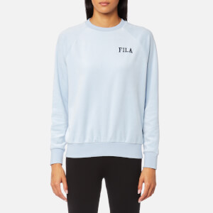 FILA Blackline Women's Cyndi Embroidered Logo Velour Sweatshirt - Skyway