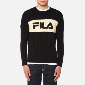 FILA Blackline Men's Rory Texture Crew Neck Knit Jumper - Black