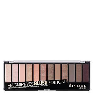 Палетка теней Rimmel 12 Pan Eyeshadow Palette — Blushed Edition 14 г