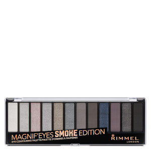 Палетка теней Rimmel 12 Pan Eyeshadow Palette — Smokey Edition 14 г