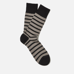 FALKE Men's Even Stripe Basic Socks - Black