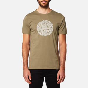 Pretty Green Men's Linear Logo T-Shirt - Green