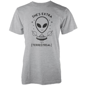 She's Extra Terrestrial Grey T-Shirt