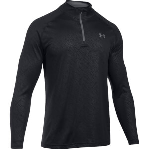 Under Armour Men's Tech Emboss 1/4 Zip Long Sleeve Top - Black