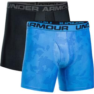Under Armour Men's 2 Pack Original 6 Inch Boxerjock - Blue/Black