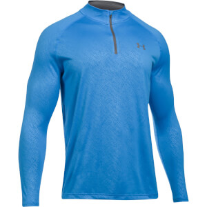 Under Armour Men's Tech Emboss 1/4 Zip Long Sleeve Top - Blue