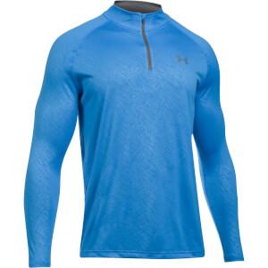Under Armour Men's Tech Emboss 1/4 Zip Long Sleeve Top - Blue