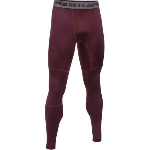Under Armour Men's Striped Compression Leggings - Burgundy