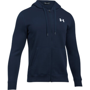 Under Armour Men's Rival Fitted Full Zip Hoody - Navy