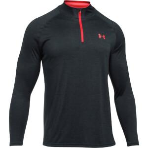 Under Armour Men's Tech 1/4 Zip Long Sleeve Top - Black/Red