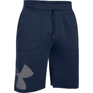 Under Armour Men's Rival Exploded Graphic Shorts - Navy