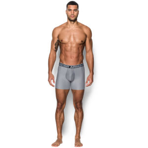Under Armour 0-Series 2 Pack 6 Inch Boxerjock Briefs - Grey
