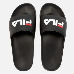 FILA Drifter Slider Sandals - Black/FILA Red/White