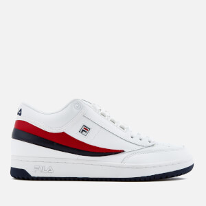FILA Men's T1-Mid Trainers - White/FILA Navy/FILA Red