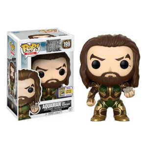 SDCC 17 Justice League Aquaman with Motherbox Pop! Vinyl Figure