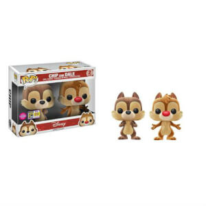 SDCC 17 Disney Chip and Dale Flocked Pop! Vinyl Figure 2 Pack