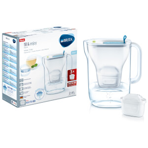 BRITA Maxtra+ Style Cool Water Filter Jug Starter Pack with 3 Cartridges - Blue